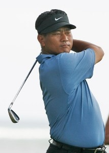 K.J. Choi hits a tee shot during practice round at the Sony Open in Hawaii held at Waialae Country Club on January 9, 2008 in Honolulu, Hawaii. PGA TOUR - 2008 Sony Open in Hawaii - Pro-AmPhoto by Stan Badz/PGA TOUR/WireImage.com