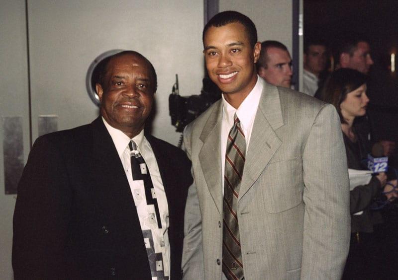 Lee Elder and Tiger Woods