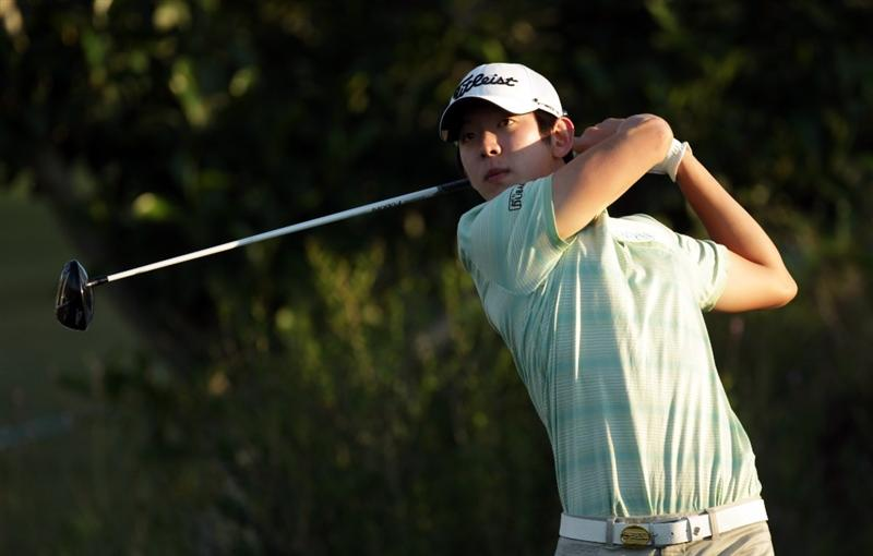 CASARES, SPAIN - MAY 21:  Seung-yul Noh of Korea during his last 16 match of the Volvo World Match Play Championships at Finca Cortesin on May 20, 2011 in Casares, Spain.  (Photo by Ross Kinnaird/Getty Images)