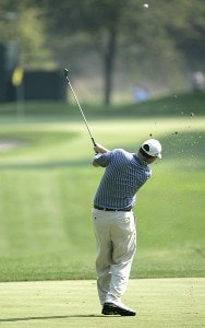 Chad Campbell during practice for the 2006 WGC-Bridgestone Invitational held on the South Course at Firestone Country Club in Akron, Ohio, on August 23, 2006.Photo by Chris Condon/PGA TOUR/WireImage.com