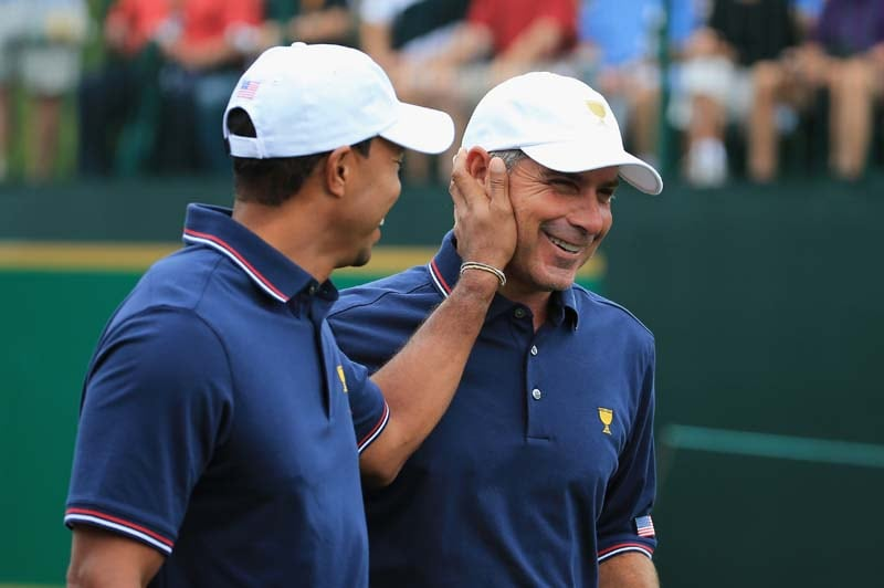 Tiger Woods and Fred Couples