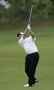 Tripp Isenhour in action during the second round of the Movistar Panama Championship, January 27, 2006, held at Club de Golf de Panama, Panama City, Panama.