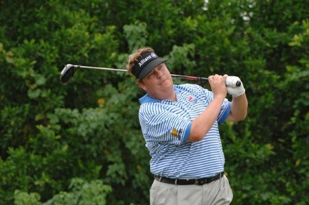 Tim Herron  drives from the 14th tee during the third  round of  the 2005 Funai Classic at World Disney World Resort October 22.Photo by Al Messerschmidt/WireImage.com