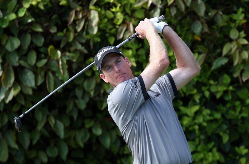 TUCKER'S TOWN, BERMUDA - OCTOBER 15: Jim Furyk of the USA during the final round of the PGA Grand Slam of Golf at the Mid Ocean Club on October 15, 2008 in Tucker's Town, Bermuda. (Photo by Ross Kinnaird/Getty Images)