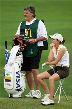 HAVRE DE GRACE, MD - JUNE 05:  Marisa Baena of Colombia waits to hit her third shot at the 15th hole during the first round of the 2008 McDonald's LPGA Championship held at Bulle Rock Golf Course, on June 5, 2008 in Havre de Grace, Maryland.  (Photo by David Cannon/Getty Images)