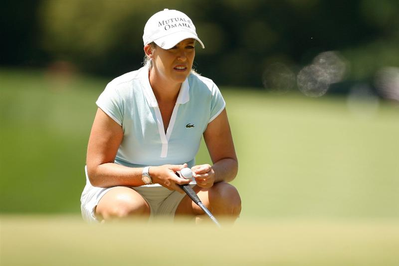 BETHLEHEM, PA - JULY 12:  Cristie Kerr lines up a putt on the third hole during the final round of the 2009 U.S. Women's Open at Saucon Valley Country Club on July 12, 2009 in Bethlehem, Pennsylvania.  (Photo by Chris Graythen/Getty Images)