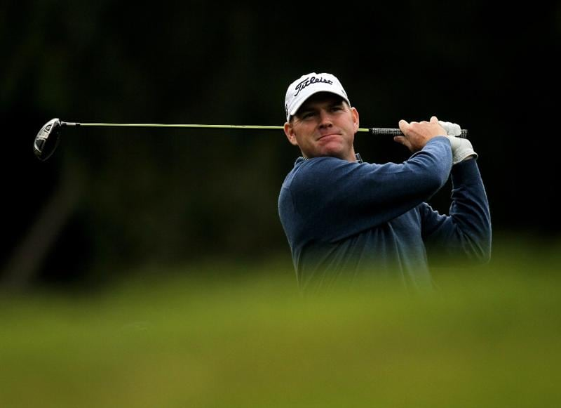 PACIFIC PALISADES, CA - FEBRUARY 04: Troy Matteson hits his tee shot on the second hole during the first round of the Northern Trust Open at Riveria Country Club on February 4, 2010 in Pacific Palisades, California.  (Photo by Stephen Dunn/Getty Images)