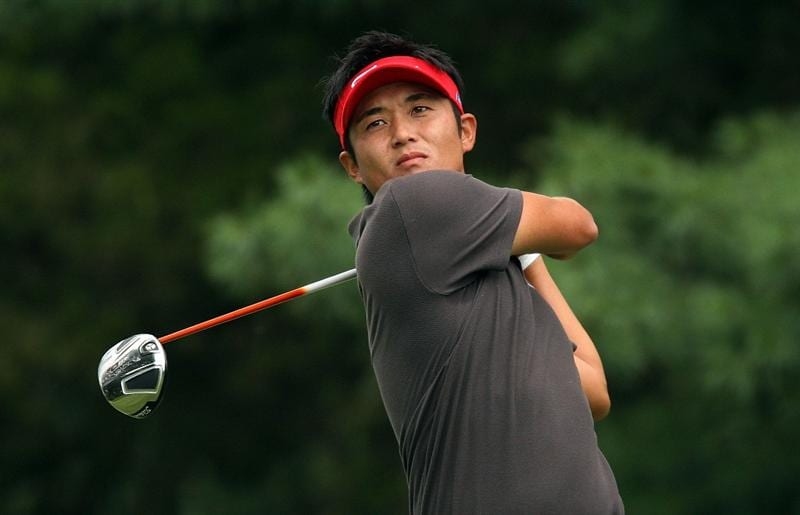 BETHESDA, MD - JULY 05:  Ryuji Imada of Japan watches his tee shot on the third hole during the final round of the AT&T National at the Congressional Country Club on July 5, 2009 in Bethesda, Maryland.  (Photo by Hunter Martin/Getty Images)