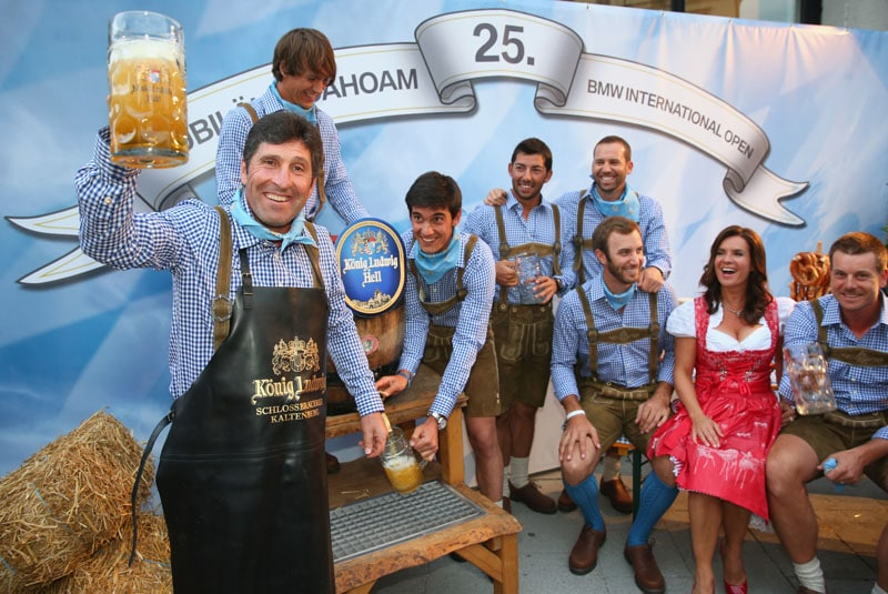 Jose Maria Olazabal, Thorbjorn Olesen, Matteo Manassero, Pablo Larrazabal, Sergio Garcia, Dustin Johnson, Katarina Witt and Henrik Stenson