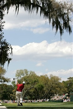 HILTON HEAD, SC - APRIL 20:  Boo Weekley hits his second shot on the 6th hole during the final round of the Verizon Heritage at Harbour Town Golf Links on April 20, 2008 in Hilton Head, South Carolina.  (Photo by Streeter Lecka/Getty Images)
