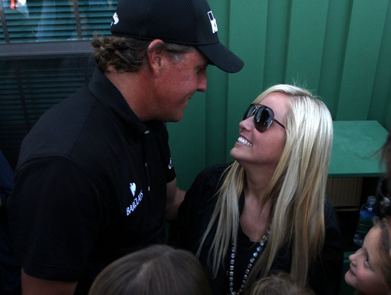 Phil and Amy Mickelson at the 2010 Masters