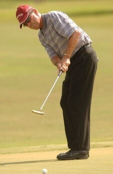 Mark McNulty putts on the 12th green during the final round of the Champion's TOUR 2005 SBC Championship at Oak Hill Country Club in San Antonio, Texas October 23, 2005.Photo by Steve Grayson/WireImage.com