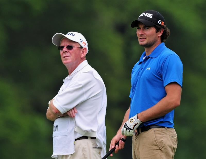 TURIN, ITALY - MAY 08:  Gareth Maybin of Northern Ireland and caddie Dave Renick duing the second round of the BMW Italian Open at Royal Park I Roveri on May 8, 2009 near Turin, Italy.  (Photo by Stuart Franklin/Getty Images)