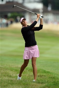 SUNNINGDALE, UNITED KINGDOM - JULY 31:  Maria Verchenova of Russia hits her second shot at the 1st hole during the first round of the 2008  Ricoh Women's British Open Championship held on the Old Course at Sunningdale Golf Club, on July 31, 2008 in Sunningdale, England.  (Photo by David Cannon/Getty Images)
