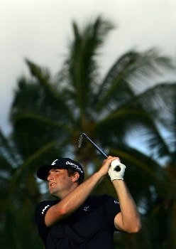 HONOLULU - JANUARY 12:  Steve Marino hits a tee shot on the 17th hole during the third round of the Sony Open at the Waialae Country Club January 12, 2008 in Honolulu, Oahu, Hawaii.  (Photo by Jeff Gross/Getty Images)