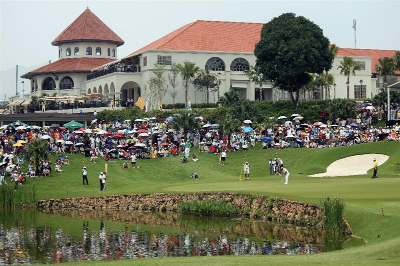 KUALA LUMPUR, MALAYSIA - MARCH 07:  A general view of the 14th green and clubhouse during the the final round of the Maybank Malaysian Open at the Kuala Lumpur Golf and Country Club on March 7, 2010 in Kuala Lumpur, Malaysia.  (Photo by Andrew Redington/Getty Images)