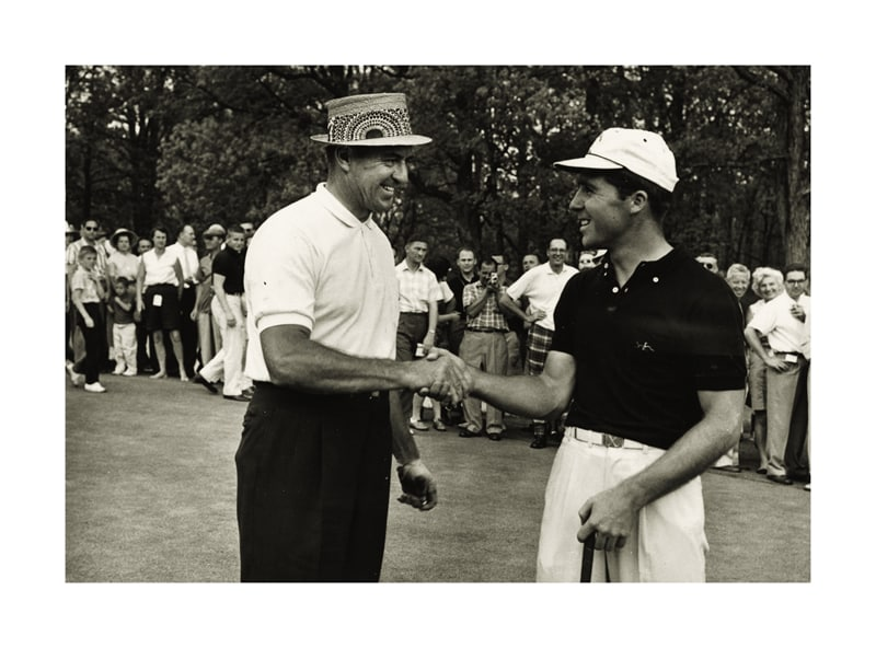 Sam Snead and Gary Player
