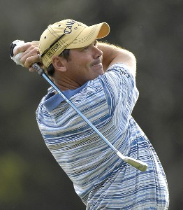 Rich Beem hits his tee shot on the 17th hole during the first round of the PODS Championship at the  Innisbrook Resort and Golf Club in Palm Harbor, Florida on March 8, 2007. PGA TOUR - 2007 PODS Championship - First RoundPhoto by Fred Vuich/WireImage.com