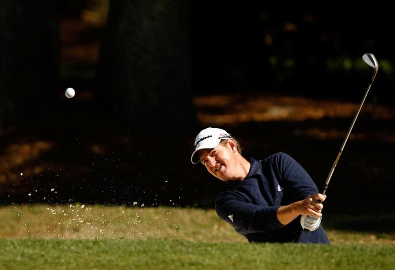 HILTON HEAD ISLAND, SC - APRIL 17:  Greg Owen of England hits the ball out of the sand on the 1st hole during the second round of the Verizon Heritage at Harbour Town Golf Links on April 17, 2009 in Hilton Head Island, South Carolina.  (Photo by Streeter Lecka/Getty Images)
