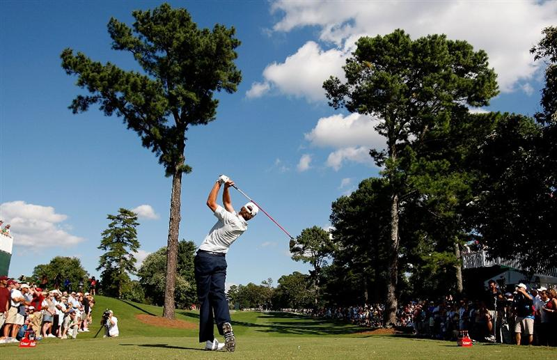 ATLANTA, GEORGIA - SEPTEMBER 27:  Sean O'Hair tees off the 13th hole during the final round of THE TOUR Championship presented by Coca-Cola, the final event of the PGA TOUR Playoffs for the FedExCup, at East Lake Golf Club on September 27, 2009 in Atlanta, Georgia.  (Photo by Kevin C. Cox/Getty Images)