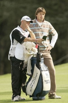 Robert-Jan Derksen during the third round of the 2005 Open De Madrid at the Campo De Golf Club in Madrid, Spain on October 15, 2005.Photo by Pete Fontaine/WireImage.com
