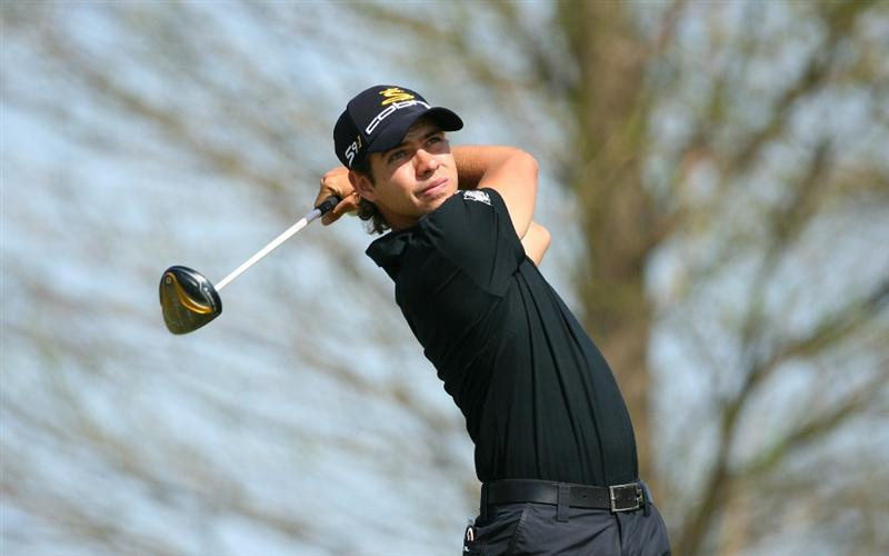 BROUSSARD, LA - MARCH 26: Manuel Villegas of Colombia hits his tee shot on the 14th hole during the second round of the Chitimacha Louisiana Open at Le Triomphe Country Club on March 26, 2010 in Broussard, Louisiana. (Photo by Hunter Martin/Getty Images)
