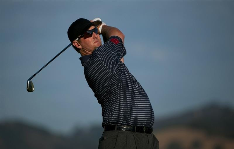 SAN MARTIN, CA - OCTOBER 14:  David Duval makes a tee shot on the seventh hole during the first round of the Frys.com Open at the CordeValle Golf Club on October 14, 2010 in San Martin, California.  (Photo by Robert Laberge/Getty Images)