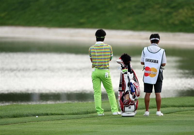 ORLANDO, FL - MARCH 27:  Ryo Ishikawa of Japan plays his second shot at the 11th hole during the second round of the Arnold Palmer Invitational Presented by Mastercard at the Bay Hill Club and Lodge on March 27, 2009 in Orlando, Florida  (Photo by David Cannon/Getty Images)