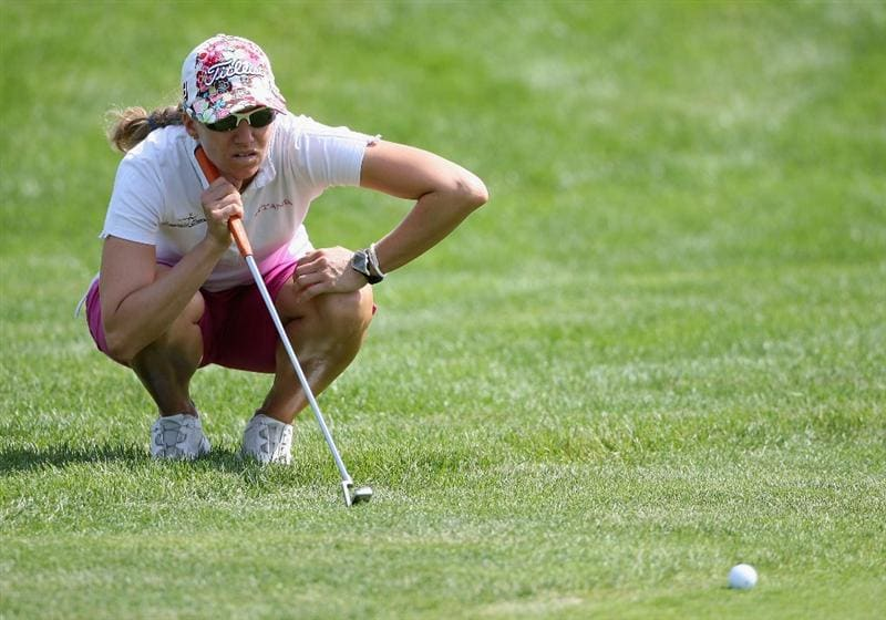 SPRINGFIELD, IL - JUNE 05:  Kris Tamulis lines up her putt on the 10th hole green during the second round of the LPGA State Farm Classic golf tournament at Panther Creek Country Club on June 5, 2009 in Springfield, Illinois.  (Photo by Christian Petersen/Getty Images)