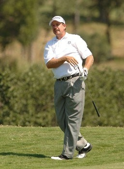 Bart Bryant hits from the ninth fairway during the final round of the 2005 Valero Texas Open at La Cantera in at La Cantera Country Club in San Antonio, Texas September 25, 2005.Photo by Steve Grayson/WireImage.com