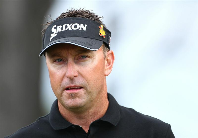 MELBOURNE, AUSTRALIA - NOVEMBER 10:  Robert Allenby of Australia looks on during the Pro-Am ahead of the Australian Masters at The Victoria Golf Club on November 10, 2010 in Melbourne, Australia.  (Photo by Robert Cianflone/Getty Images)