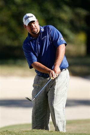 MADISON, MS - OCTOBER 02:  Brendon de Jonge of Zimbabwe hits his third shot on the 16th hole during the third round of the Viking Classic held at Annandale Golf Club on October 2, 2010 in Madison, Mississippi.  (Photo by Michael Cohen/Getty Images)