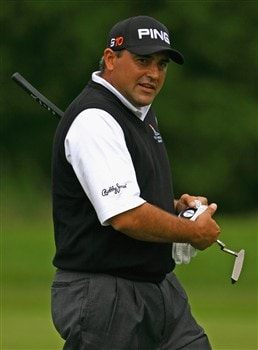 LUSS, UNITED KINGDOM - JULY 12:  Angel Cabrera of Argentina walks on to the 1st green during the Third Round of The Barclays Scottish Open at Loch Lomond Golf Club on July 12, 2008 in Luss, Scotland. (Photo by Matthew Lewis/Getty Images)