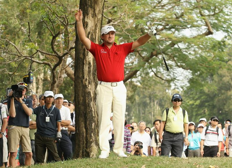 HONG KONG - NOVEMBER 21:  Graeme McDowell of Northern Ireland in action during day four of the UBS Hong Kong Open at The Hong Kong Golf Club on November 21, 2010 in Hong Kong, Hong Kong.  (Photo by Ian Walton/Getty Images)