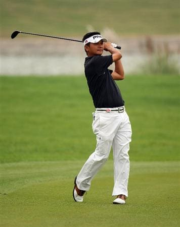 SHANGHAI, CHINA - NOVEMBER 07:  Wen-tang Lin Taipei on the par five 8th hole during the third round of the WGC - HSBC Champions at Sheshan International Golf Club on November 7, 2009 in Shanghai, China.  (Photo by Ross Kinnaird/Getty Images)