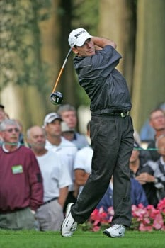 John Huston in action during the first round of the 2005 Bell Canadian Open, September 8,2005, held at Shaughnessy Golf & Country Club, Vancouver, B.C.Photo by Stan Badz/PGA TOUR/WireImage.com