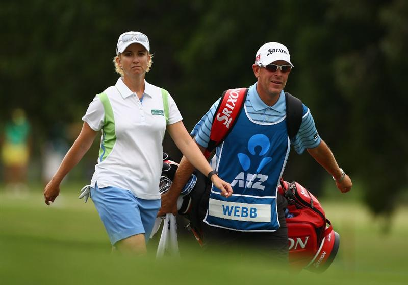 GOLD COAST, AUSTRALIA - MARCH 06:  Karrie Webb of Australia walks down the 4th fairway during round three of the 2010 ANZ Ladies Masters at Royal Pines Resort on March 6, 2010 in Gold Coast, Australia.  (Photo by Ryan Pierse/Getty Images)