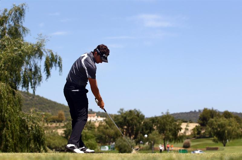 MALLORCA, SPAIN - MAY 12:  Alejandro Canizares of Spain tees off on the 8th hole during day one of the Iberdrola Open at Pula Golf Club on May 12, 2011 in Mallorca, Spain.  (Photo by Julian Finney/Getty Images)