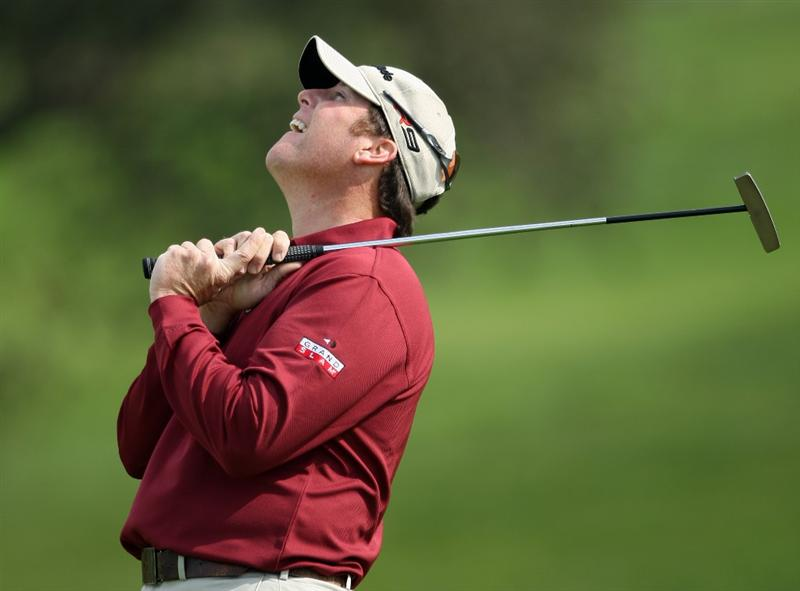 LA JOLLA, CA - JANUARY 29:  D.A. Points reacts to a missed putt on the 5th hole during the second round of the 2010 Farmers Insurance Open on January 29, 2010 at Torrey Pines Golf Course in La Jolla, California. (Photo by Donald Miralle/Getty Images)