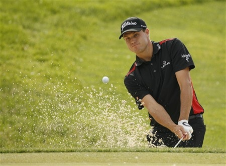 DUBLIN, OH - MAY 30: Nick Watney hits his second shot on the 4th hole during the second round of the Memorial Tournament at Muirfield Village Golf Club on May 30, 2008 in Dublin, Ohio. (Photo by Hunter Martin/Getty Images)