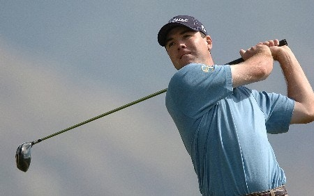 Arron Oberholser in action during the first round of the PGA's Tour 2005 Chrysler Classic of Tucson at the Omni Tucson National Golf Resort & Spa February 24, 2005 in Tuscon, Arizona