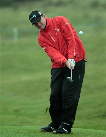 CARNOUSTIE, SCOTLAND - OCTOBER 08: Paul Lawrie of Scotland at the 15th hole during the second round of The Alfred Dunhill Links Championship at Carnoustie Golf Links on October 8, 2010 in Carnoustie, Scotland.  (Photo by David Cannon/Getty Images)