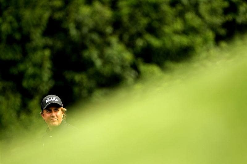 AUGUSTA, GA - APRIL 08:  Phil Mickelson walks off the fourth tee during the second round of the 2011 Masters Tournament at Augusta National Golf Club on April 8, 2011 in Augusta, Georgia.  (Photo by Jamie Squire/Getty Images)