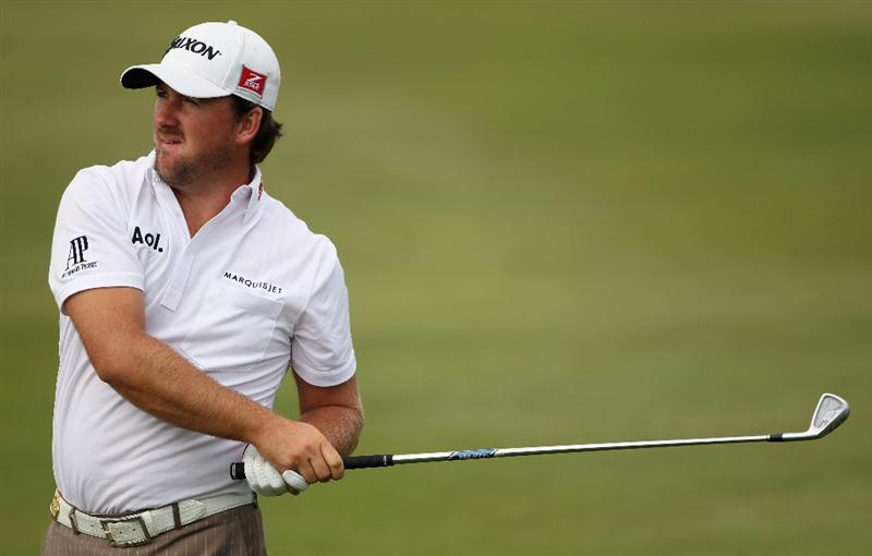 CASARES, SPAIN - MAY 20:  Graeme McDowell of Northern Ireland in action during the group stages of the Volvo World Match Play Championship at Finca Cortesin on May 20, 2011 in Casares, Spain.  (Photo by Andrew Redington/Getty Images)