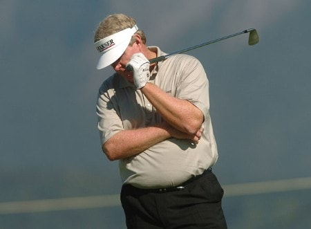 Andy Bean looks away after his tee shot on the 17th went into the rough during the second round of the 2005 Boeing Greater Seattle Classic at TPC at Snoqualmie Ridge in Snoqualmie, Washington August 20, 2005.Photo by Steve Grayson/WireImage.com