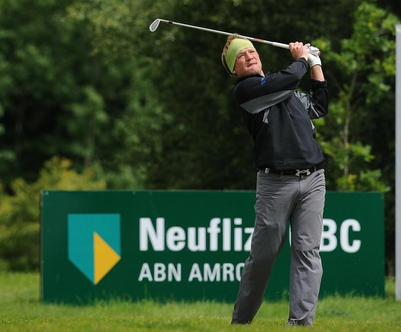 LUMBRES, FRANCE - JUNE 19:  Pelle Edberg of Sweden in action during Round Three of the Saint-Omer Open at The Aa St Omer Golf Club on June 19, 2010 in Lumbres, France.  (Photo by Christopher Lee/Getty Images)