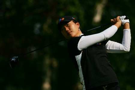 EDMONTON, CANADA - AUGUST 17:  Seon Hwa Lee of South Korea makes a tee shot on the seventh hole during the second round of the LPGA CN Canadian Women's Open 2007 at the Royal Mayfair Golf Club August 17, 2007 in Edmonton, Alberta, Canada.  (Photo by Robert Laberge/Getty Images)