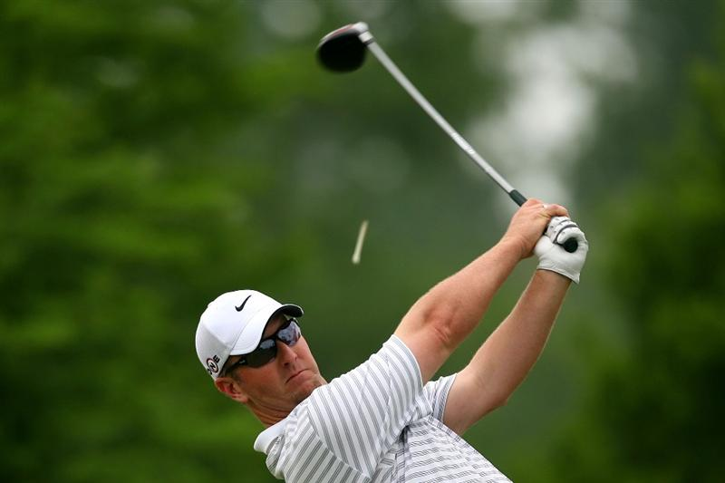 AVONDALE, LA - APRIL 24:  David Duval tees off on the 13th hole during the continuation of the weather delayed second round of the Zurich Classic at TPC Louisiana on April 24, 2010 in Avondale, Louisiana.  (Photo by Chris Trotman/Getty Images)