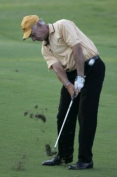Bruce Fleisher at the 18th during the second round of the Bruno's Memorial Classic, May 21,2005, held at Greystone GC, Birmingham, Al.  D.A. Weibring shot a second round 12 under par.Photo by Stan Badz/PGA TOUR/WireImage.com