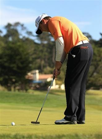 PEBBLE BEACH, CA - FEBRUARY 13:  D.A. Points putts at the AT&T Pebble Beach National Pro-Am- Final Round at the Pebble Beach Golf Links on February 13, 2011 in Pebble Beach, California.  (Photo by Jed Jacobsohn/Getty Images)